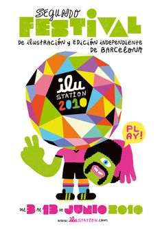 Ilu-station Festival 2010. Poster by Maxi Luchini.