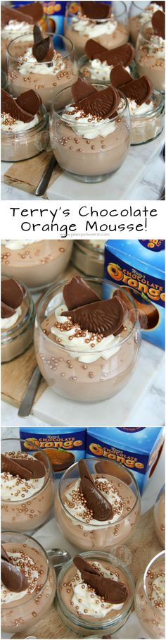 Terry's Chocolate Orange Mousse!! ❤️ 3 Ingredient Mousse that makes a Heavenly, Showstopping Dessert! #christmasfood