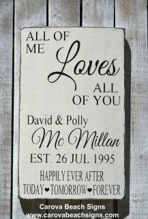 Personalized Home Décor Wall Sign, Rustic Wedding Decoration, Wood Wedding Signs, Couples Anniversary Gifts  Size:  18x12  Wedding Signs Decoration - Painted Wood Sign - White and Black, Rustic and Distressed, Vintage, Antique  Finish  TO ORDER!! - please include personal information you would like on the sign in the Note to Seller section at checkout.  You may also send us a contact at the link at the top of the webpage.  Thank you! A saw tooth hanger is applied prior to shipping.  Thank…