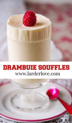 These frozen Drambuie souffles are easy to make, super tasty and very impressive too, a wee taste of Scotland. #scottishcooking #scottishdesserts #drambuie #frozensouffles #larderlove Scottish Desserts, Scottish Recipes, Dessert From Scratch, Larder, Pin Image, Great Recipes, Delicious Desserts, Super Easy, Scotland