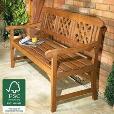 Wooden Garden Bench 3 Seater,