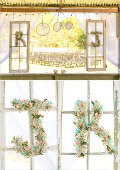 wedding ceremony decor ideas- embroidery hoops
