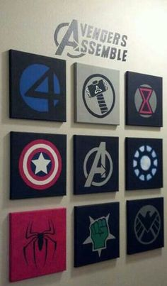 10 Best Marvel Avengers Wall Decor Ideas Who is not familiar with The Avengers? Set of superhero that is always awesome, especially with the joining my favorite superhero - 10 Best Marvel Avengers Wall Decor Ideas Marvel Avengers, Avengers Room, Marvel Logo, Avengers Nursery, Marvel Nursery, Avengers Symbols, Avengers Poster, Marvel Comics, Canvas Art