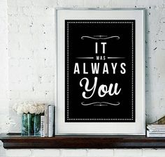 'always you' retro fine art print unframed by rock the custard | notonthehighstreet.com