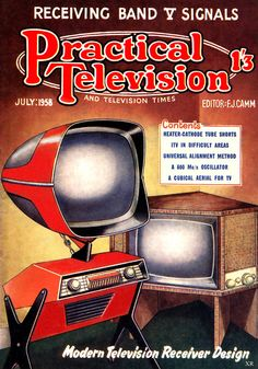 Poster Print Wall Art Print entitled Practical Television, July None