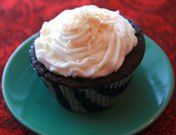 Chocolate coconut cupcakes!  Sounds delish!  My awesome sister makes a cupcake a day, every day for 1 whole year!  Check out her blog to see more yummy treats!