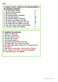 worksheet - Free ESL printable worksheets made by teachers English Christmas, Christmas Words, Christmas Tree Crafts, Christmas Activities, 4th Grade Spelling Words, Teaching Jobs, Reading Skills, Printable Worksheets, Elementary Schools