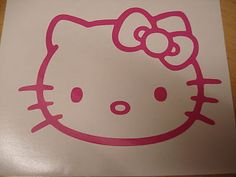 Pink HELLO KITTY Vinyl Car Stickers Decal
