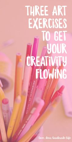 Three artful self-care exercises to get your creativity flowing – Dear Handmade Life – Miriam Larson – art therapy activities Art Therapy Projects, Art Therapy Activities, Art Projects, Art Journal Prompts, Art Journals, Junk Journal, Creativity Exercises, Creative Art, How To Be Creative