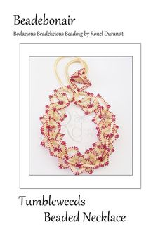 Tumbleweeds - a necklace tutorial using peyote squares or hexagons Beading Techniques, Beading Tutorials, Beading Patterns, Feather Necklaces, Beaded Bracelets, Bead Store, Necklace Tutorial, Geometric Necklace, Peyote Stitch