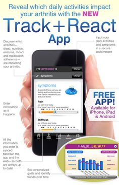 Track and React App | Arthritis Pain Tracker | Arthritis Today Magazine