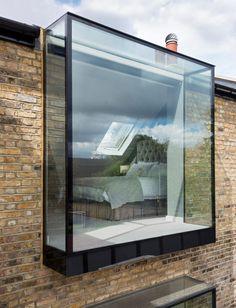 Loft Design, Home Room Design, House Design, Design Design, Glass Balcony, Balcony Glass Design, Indoor Balcony, Outdoor Garden Rooms, Box Architecture