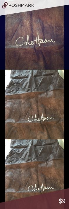 Shoe Dust Back For Cole Haan Shoes By Cole Haan Brown Dust  Bag for Cole Haan Shoes. Accessories