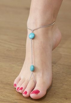 #BOHEMIAN #SILVER #ANKLET WITH #TOE #RING
