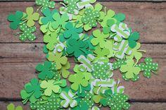Shamrock Confetti Green confetti Green by MoosesCreations on Etsy