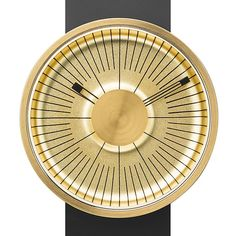Back in stock! The MY03 Hacker features a gold concave face and bold black lines. #goldwatches #design #michaelyoung