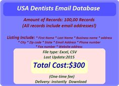 Fax Number, Email List, Business Names, First Names, Online Marketing, Dentists, Engineers, Lawyer, Doctors