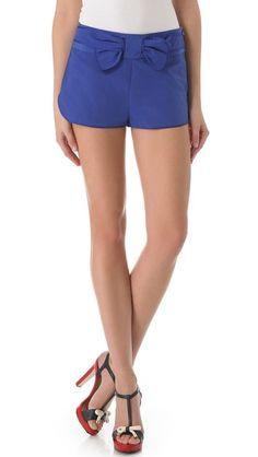RED Valentino Bow Shorts - shopbop.com