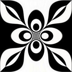 Op art symetry or op art flower by Marco Braun, via Flickr