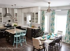 Nice amount of color and woodtones in this kitchen