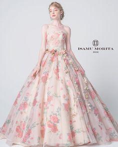 Floral Prom Dresses, Pink Wedding Dresses, Gala Dresses, Ball Gown Dresses, Beautiful Long Dresses, Pretty Dresses, Wedding Dress Patterns, Fantasy Dress, Designer Dresses