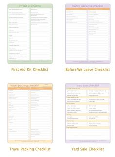 Printable To Do LIsts.