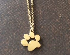Paw Print Necklace Paw Print Jewelry Cat Paw Necklace Dog