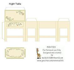 Printable Miniature Furniture; night table