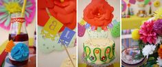 Colorful Fiesta + Mexican Themed Birthday Party