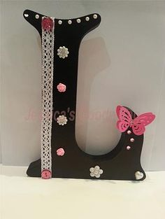 Large freestanding MDF letter, handpainted and decorated according to your chosen colour scheme. Mdf Letters, Alphabet Letters, Decorated Letters, Teen Bedrooms, Create Your Own Website, Wooden Crafts, Goodie Bags, Christening, Color Schemes