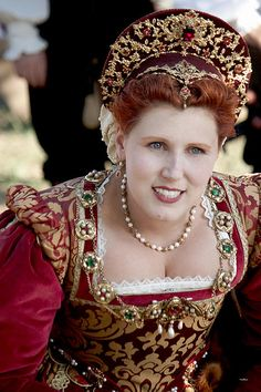 Queen Elizabethan is from Renaissance Faire, Irwindale, California.  Renaissance fairs generally include an abundance of costumed entertainers or fair-goers, musical and theatrical acts, art and handicrafts for sale, and festival food.