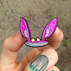 ICKIS polig!! 1,75 weicher Emaille Pin mit doppelter Schmetterling Kupplung sichern. Aus den 90er Jahren zeigen Nickelodeon Ah Monster Umarmen Sie Ihre Kindheit