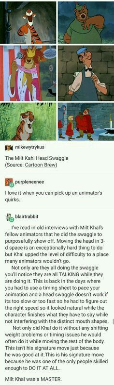 The Milt Kahl Head Swaggle animation Disney great animator Disney Pixar, Disney And Dreamworks, Disney Animation, Disney Memes, Walt Disney, Funny Disney, Disney Art, Animation Movies, My Tumblr