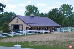Morton horse barn in Michigan