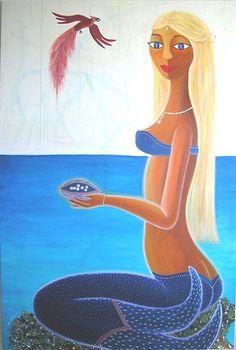 """La sirène aux perles"" by irisepainting.ca"