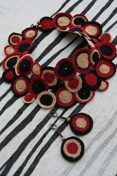 Necklace & earrings - ethnic style; beautiful and intricate