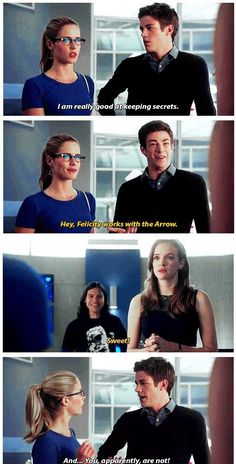 The Flash - Felicity and Barry