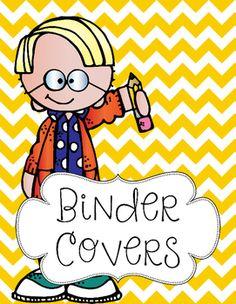 Super cute chevron binder covers. Included:* 10 individual files* Chevron…