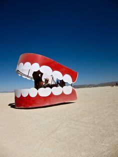 Chattering Teeth Art Car