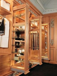 Luxury walking closet custom built in cabinets
