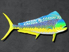 Metal Bottle Cap Fish Wall Art Mahi Mahi Dolphin by EricsEasel, $350.00