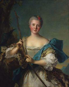 Madame de Pompadour as Diana, 1752 by Jean-Marc Nattier | Cleveland Museum of Art