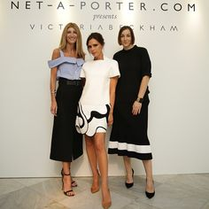 Yesterday we hosted an exclusive styling session with @VictoriaBeckham in Singapore. #NETAPORTER's Vice President of Global Buying @SarahRutson and Global Head of Personal Shopping @LupePuerta joined guests in taking a closer look at the coveted designs. #VBXNETAPORTER #StyleSuite