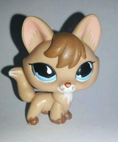 Littlest Pet Shop Brown Fox Blue Eyes #673 Preowned LPS Blemish Flaw in Toys & Hobbies, Preschool Toys & Pretend Play, Littlest Pet Shop | eBay