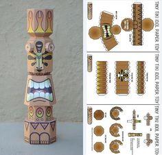 Papermau: Tiny Tiki Custom Paper Toy - by Sinner Playing Wit...