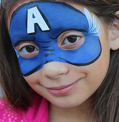 7 Best Captain America Face Painting Ideas Face Painting Captain America Face Paint Superhero Face Painting