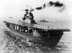 Yorktown class USS Hornet (CV-8) on her way to commissioning, 1941