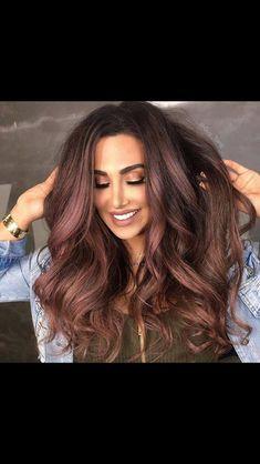 Rose toned dark hair