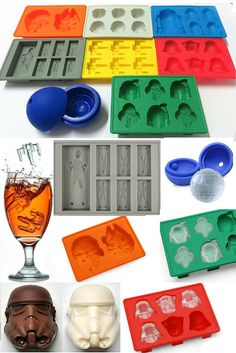 Get your Complete 8 Piece Set of Star Wars Chocolate molds and Ice trays. Create all your favorite characters from the Star Wars Galaxy. Great for creating chocolates, desserts, art work, and ice molds of all your favorite Star Wars characters and icons. Now available with FREE FAST SHIPPING.