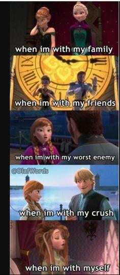 frozen memes Super Funny Disney Princess Memes So True Ideas Funny Crush Memes, Really Funny Memes, Stupid Memes, Funny Relatable Memes, Humour Disney, Funny Disney Jokes, Funny Jokes, Hilarious Quotes, Disney Memes Clean